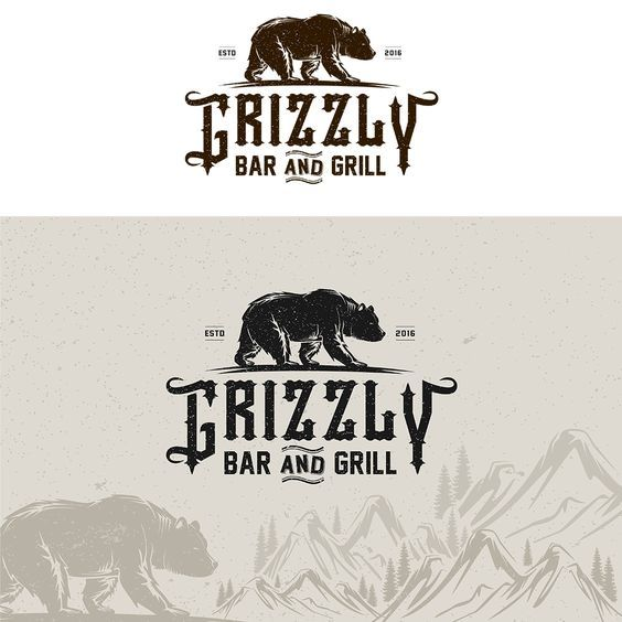 Design #63 by mipop | Grizzly Bar & Grill logo