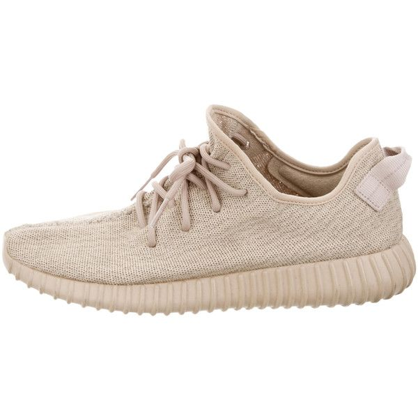 Pre-owned Yeezy x Adidas Boost 350 Sneakers ($995) ❤ liked on Polyvore featuring men's fashion, men's shoes, men's sneakers, brown, mens oxford shoes, adidas mens sneakers, mens lace up shoes, mens brown leather sneakers and mens brown tie