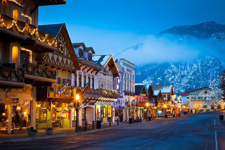 Leavenworth, WA - cute Bavarian town about 2hrs from Seattle. Lots ...