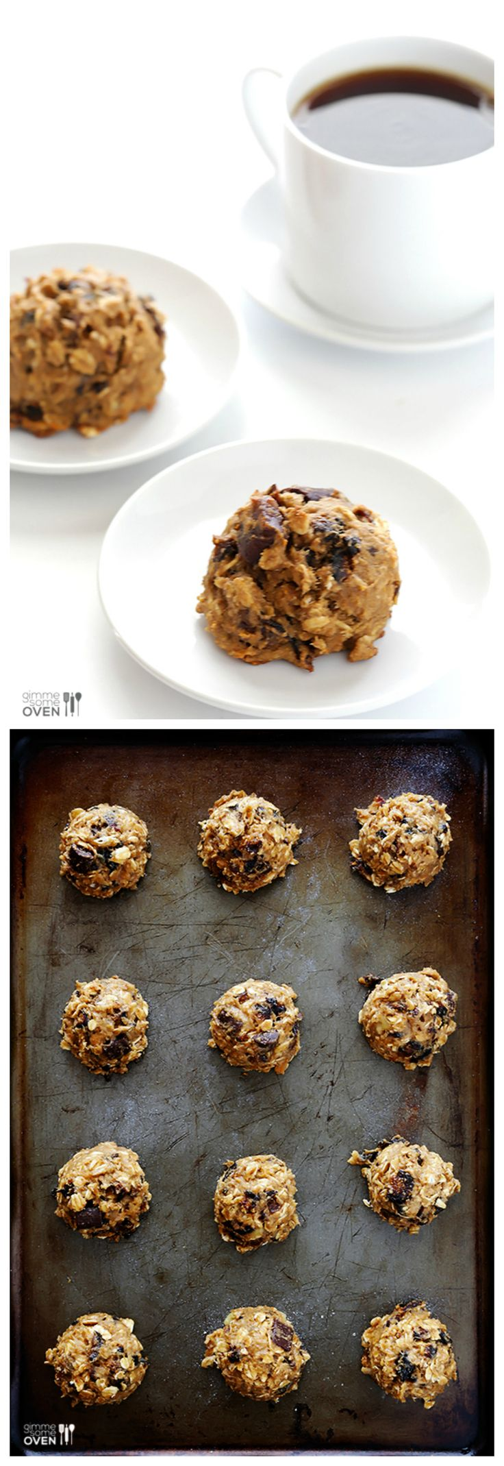 Breakfast Cookies -- made with healthier ingredients that will start your day with a delicious boost of energy | gimmesomeoven.com #seriouslydelish