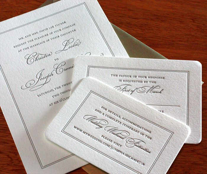 leslie letterpress wedding invitation by invitations by ajalon