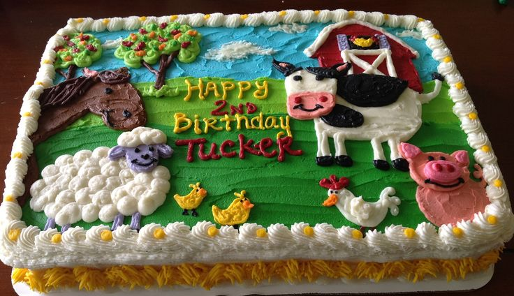 Farm Cake - I could do one like this??