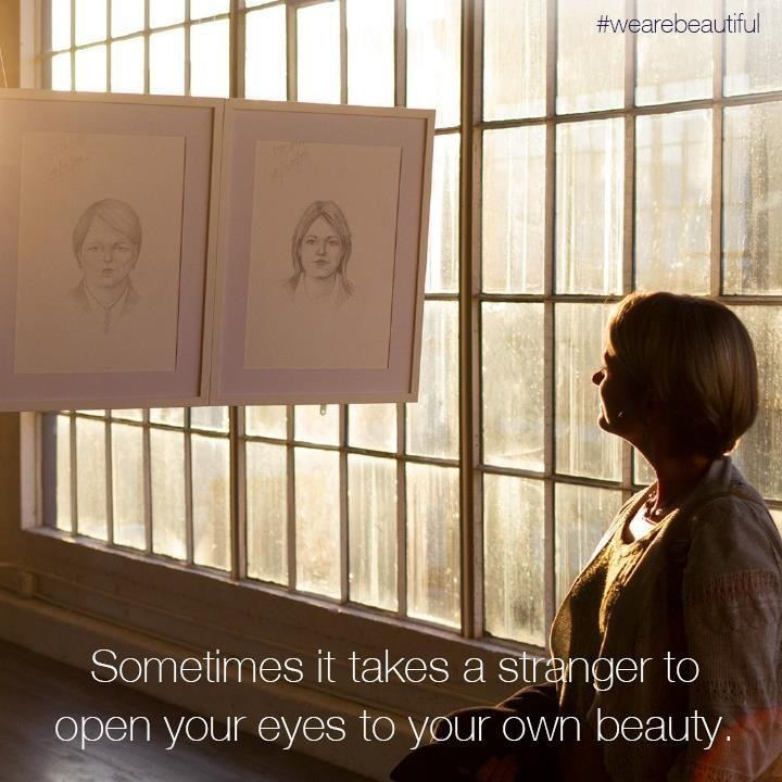 Dove's Real Beauty Sketches Campaign. This exposes women's low self-esteem and its impact. dove.com/realbeautysketches