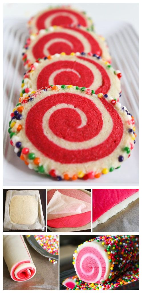 joysama images: Colorful Spiral Cookies