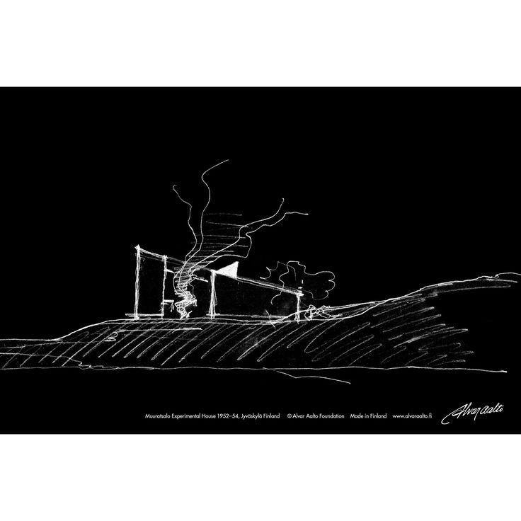 Sketch book Experimental house black #alvaraalto