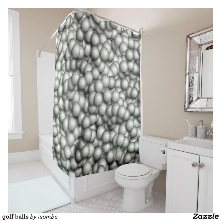 Golf Balls Shower Curtain Curtains Fabric Shower Curtains