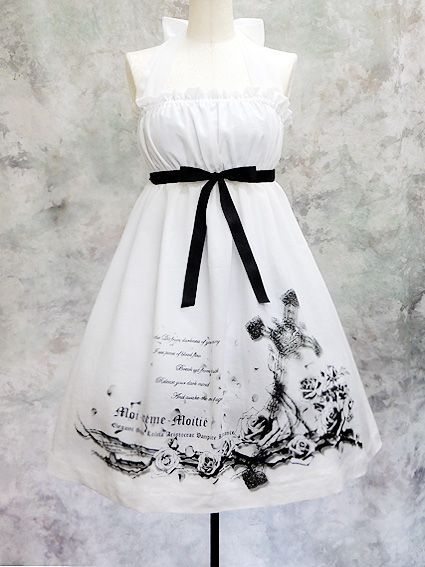Moi-même-Moitié - cross and roses print ((white x black))