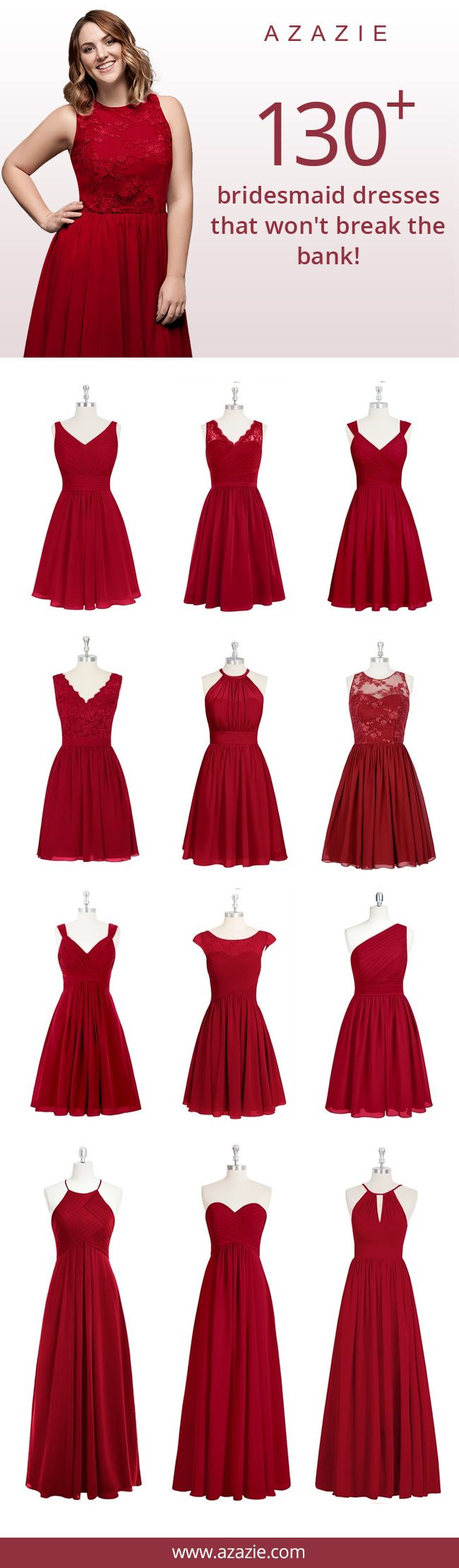Best 25 red bridesmaid dresses ideas on pinterest red azazie is the online destination for special occasion dresses our online boutique connects bridesmaids and ombrellifo Images