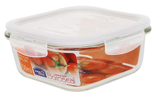 Boroseal II 3.2 Cup Heat Resistant Square Glass Container with Lid