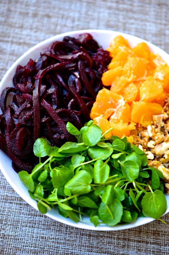 Beet, Orange, Watercress and Walnut Salad