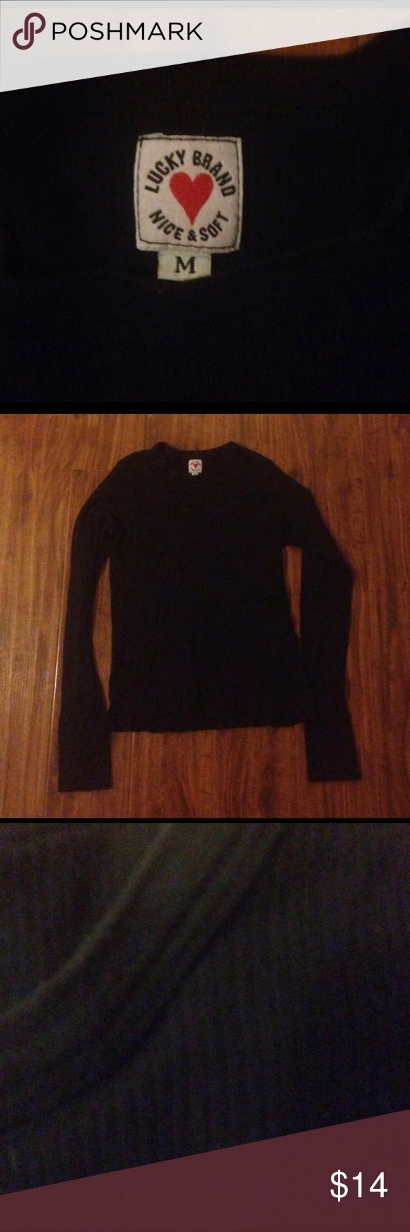 Lucky brand thermal black medium 21 inches from collar to hem , excellent condition Bundle & SAVE 10% off +shipping 💰 Lucky Brand Tops Tees - Long Sleeve
