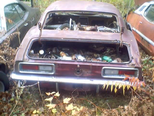 Camaro Wrecking Yards : Camaro sitting in a junk yard alma mi parked