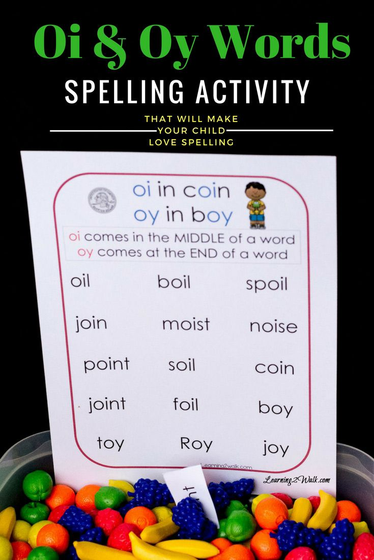 Worksheet Oi Words For Kids 17 best images about word study and spelling on pinterest ever dread teaching your child or student how to spell them the