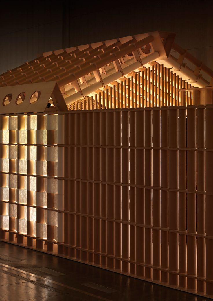 Japanese architect Shigeru Ban has collaborated with French lifestyle brand Hermès to create a paper house pavilion for milan design week 2011.