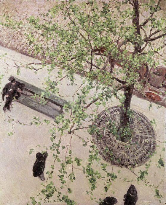 Gustave Caillebotte, El Bulevar visto desde arriba, 1880. Óleo sobre lienzo, Colección particular