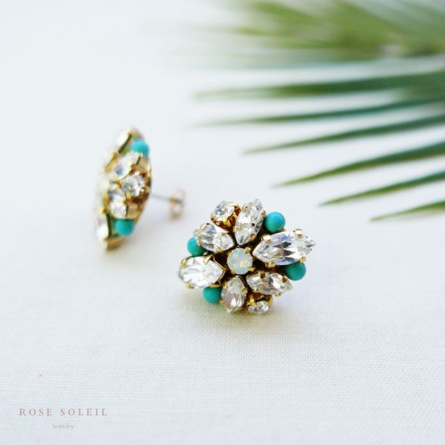 Rose Soleil Jewelry Tropical Sky Collection | ローズソレイユジュエリー ✧  クリスタルピアス ✧ トロピカルスカイコレクション