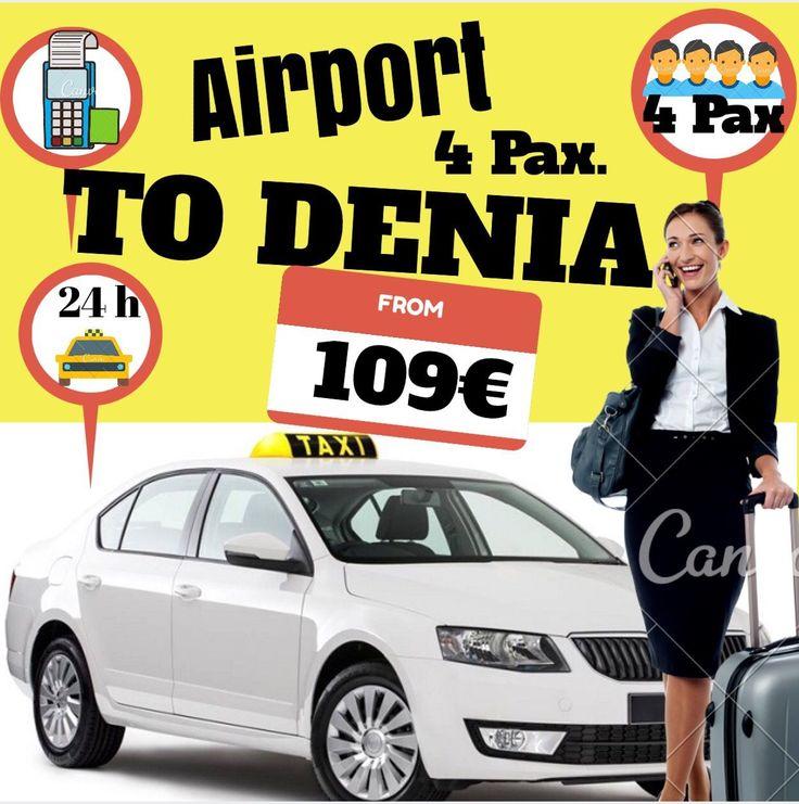 ALICANTE AIRPORT TO DENIA FOR 4 PAX www.alicante-airporttransfers.com/en/