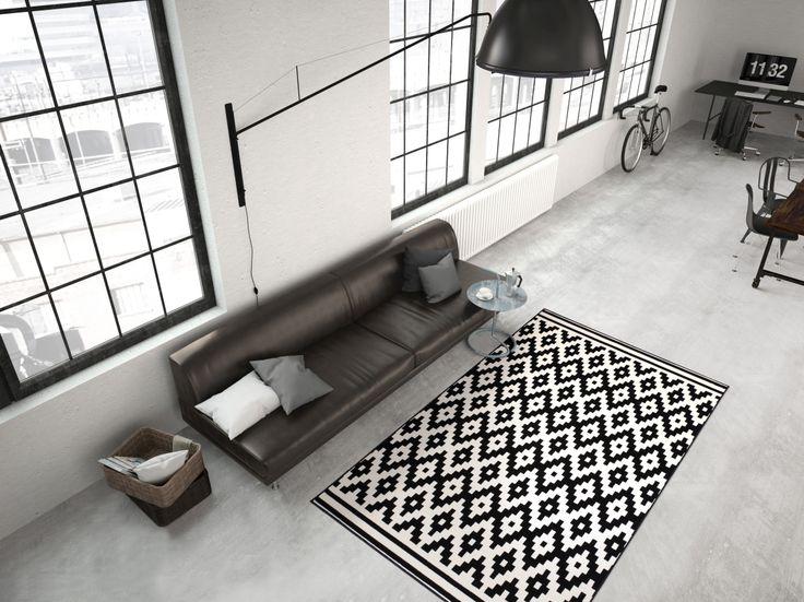 Teppich im Schwarz-Weiß Design passend zu jeder Einrichtung.  http://www.teppich-flor.de/Malaysia-Miri-Schwarz-Weiss  #teppich #teppiche #wohnen #wohnzimmer #deko #dekoration #livingroom #loft #lifestyle #loftstyle #architecture #inneneinrichtung #interiordesign #home #homedecor #homesweethome