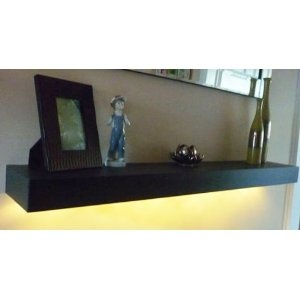 floating shelf shelves with led lights kitchen home