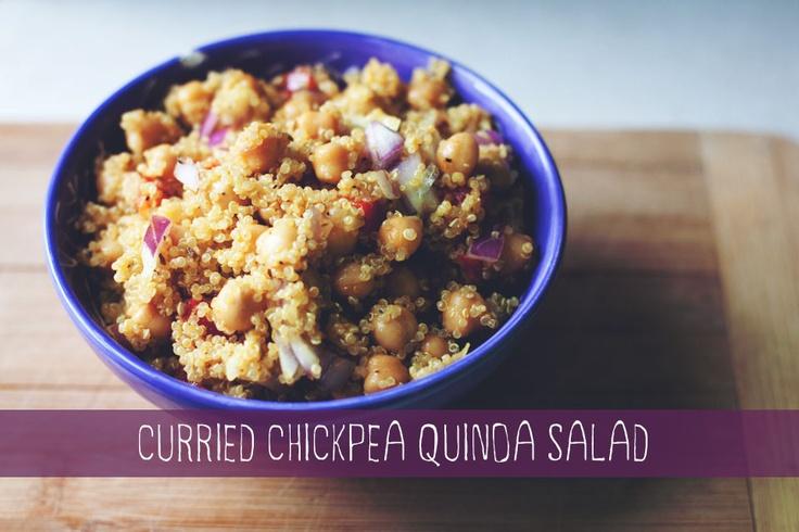 CURRIED CHICKPEA QUINOA SALAD {chicksandpeas.ca}