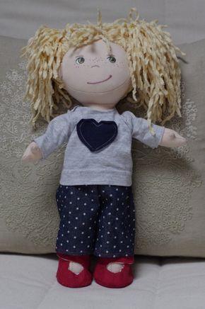 Schnittmuster Kleidung Haba Puppe Frühjahrsoutfit für Milla -Tutorial-