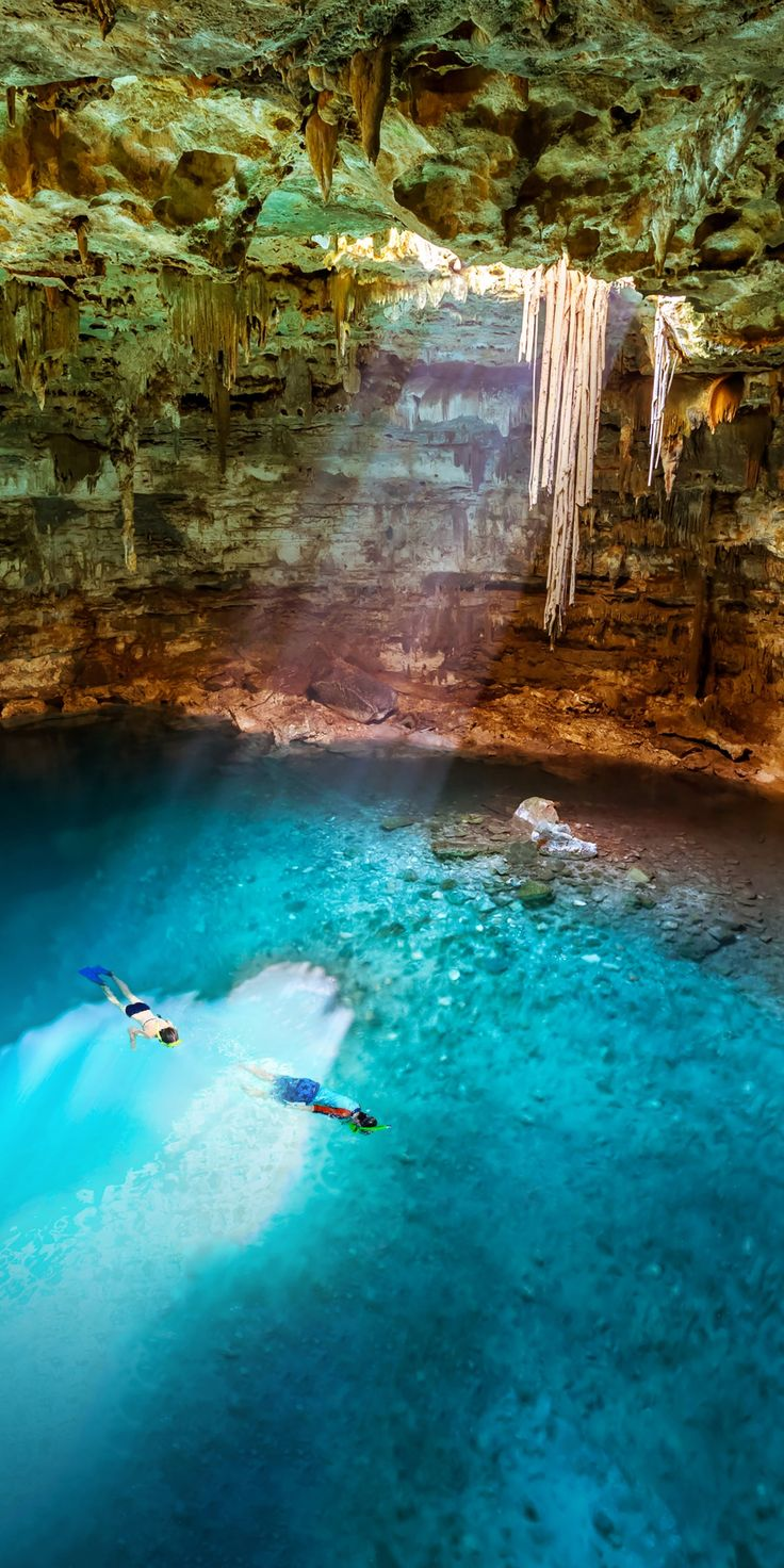 Cozumel, Mexico | What would you do with 8 hours in Cozumel? A sacred underground Mayan world exists in Mexico's many cenotes, ideal for snorkeling, swimming, hiking, and more. Explore these magical dwellings when you cruise with Royal Caribbean and book An Underground Mayan River Cenote as an excursion.