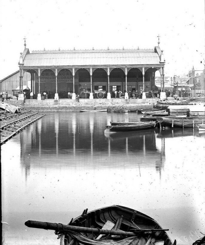 The Boat Harbour on Scott St, Newcastle in New South Wales in 1891.