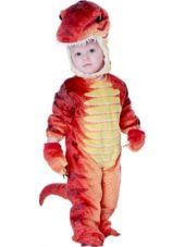 Toddler Boys Red T-Rex Dinosaur Costume - Party City