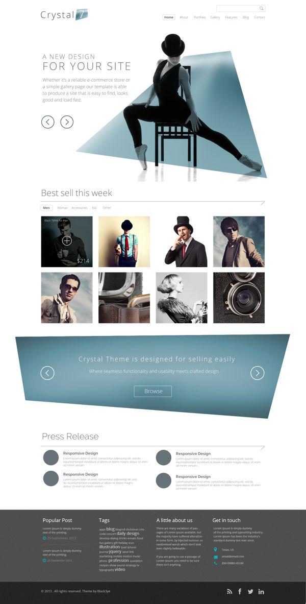 Crystal7 Website on Behance