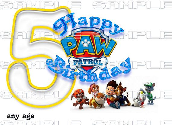 PAW Patrol Birthday Gang Custom TShirt Iron On By