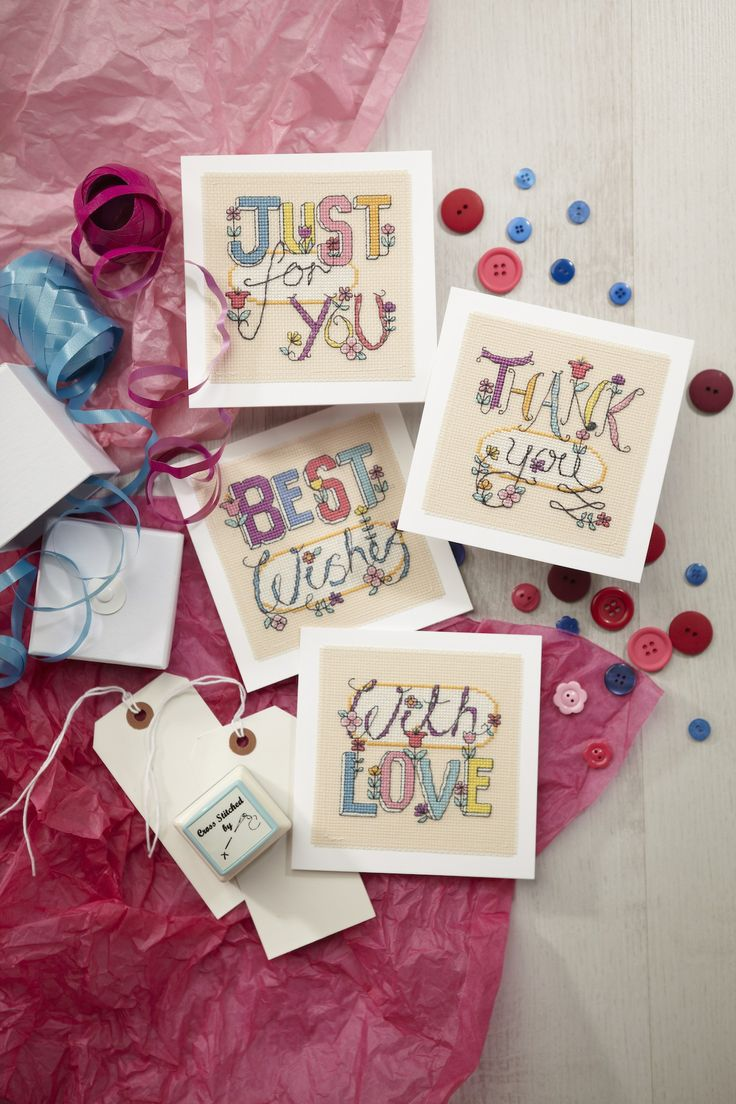 Put a word on it! Angela Poole's collection of funky greetings cards is on p.27 http://www.myfavouritemagazines.co.uk/stitch-craft/cross-stitch-collection-magazine-subscription/