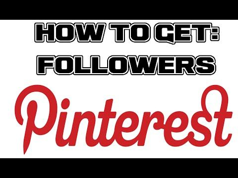 How To Get Pinterest Followers - How To Get Your First 10,000 + Follower On Pinterest - YouTube #followers #moneymaking #pinterest