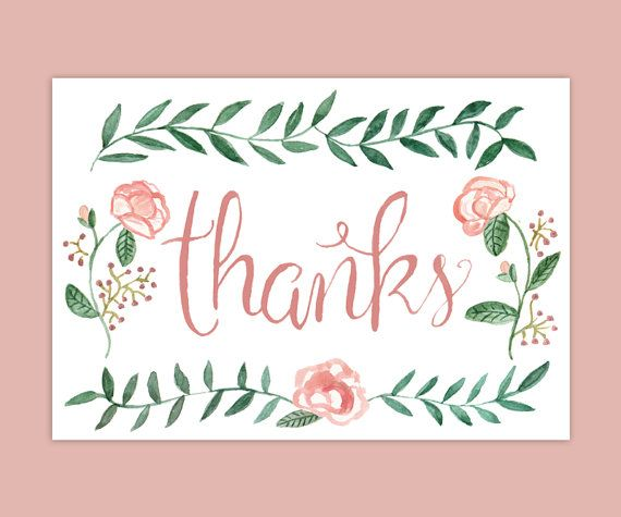 Hey, I found this really awesome Etsy listing at https://www.etsy.com/listing/164417375/watercolor-rose-thank-you-notes-set-of