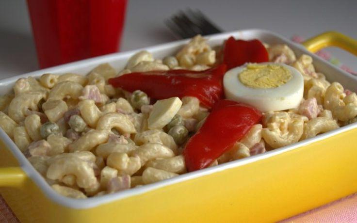 Preparando una deliciosa Ensalada fría de jamón