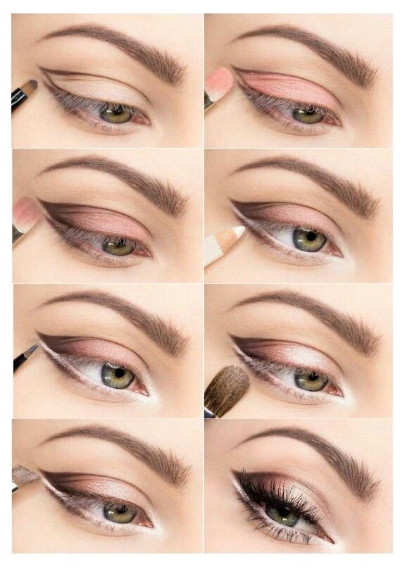 Makeup to get larger eyes