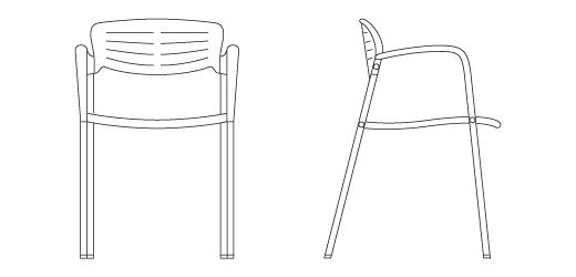 Toledo Stacking Chair | Knoll