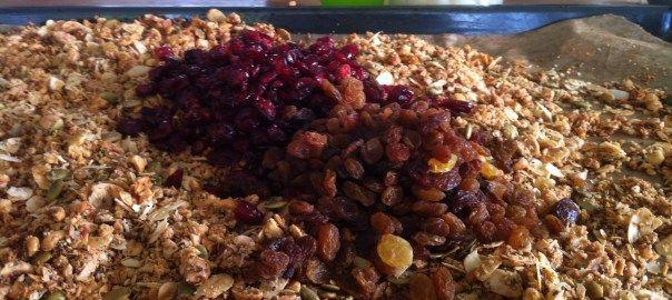granola op de bakplaat