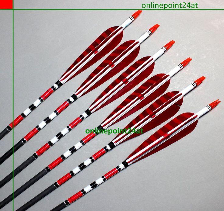 6 x superleichte Traditional Carbon Pfeile Spine 500 Langbogen Recurvebogen