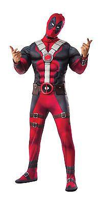 Halloween Costumes: Teen Size Deadpool Movie Deluxe Costume Marvel Superhero -> BUY IT NOW ONLY: $49.99 on eBay!