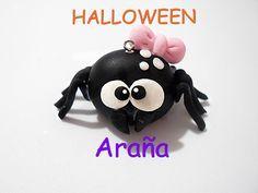 DIY araña paso a paso porcelana fría Halloween / Dia de Muertos