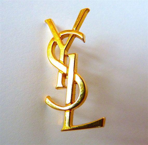 Broche Pin's YSL Yves Saint Laurent Vintage par VintageParisLuxe
