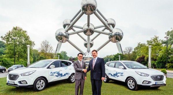 Hyundai ix35 Fuel Cell bei EU-Politikern im Alltagstest