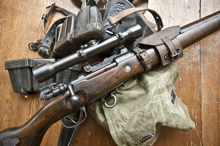 Mauser 98k with Copy of Zeiss Jena Zielvier Sniper Scope.