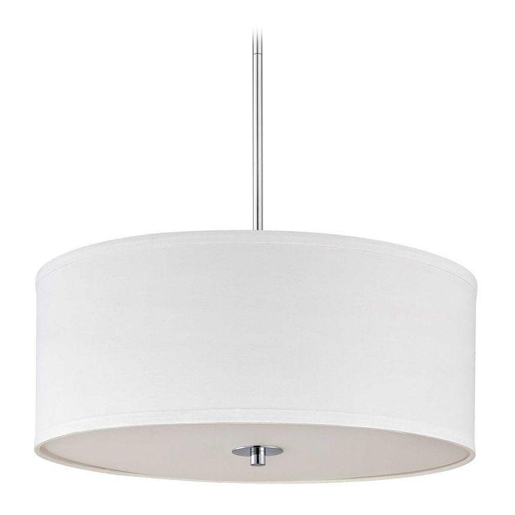 design classics lighting modern hanging globe. contemporary pendant light with white drum shade in chrome finish design classics lighting modern hanging globe
