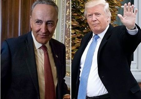 For the second time in a week Charles Schumer aligned himself with Trump in a portent the Democrat's opposition to Trump is faltering.