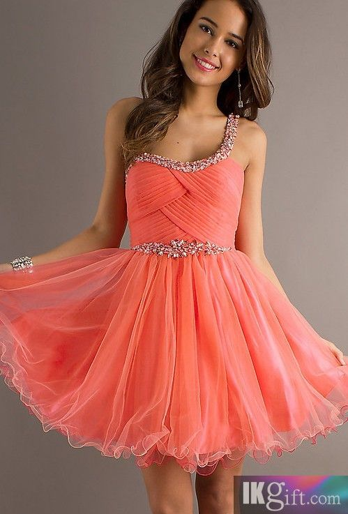 Short One Shoulder Prom Dress by Dave & Johnny - HomeComing Dresses - Special Occasion Dresses - Wedding & Events