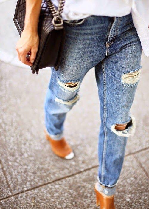 Beautiful things: Inspiração - calças de ganga rasgadas