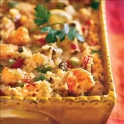 Creamy Corn and Shrimp Casserole on BigOven: This is a real crowd pleaser.  Great for a buffet-style dinner