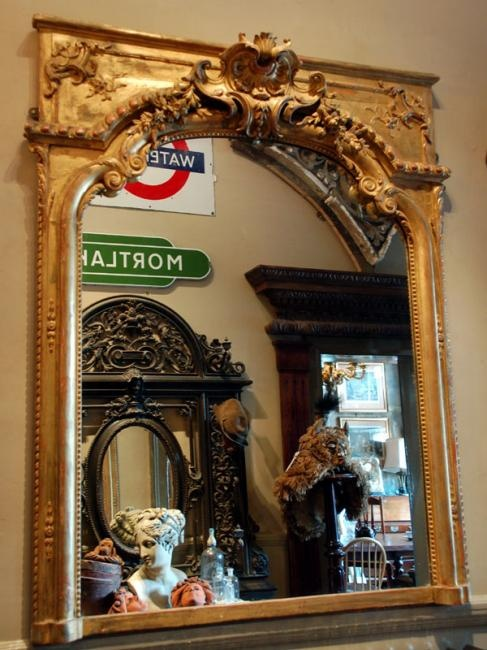 When I Get Rich Ill Buy This Gilt Overmantle Mirror For The Living Room