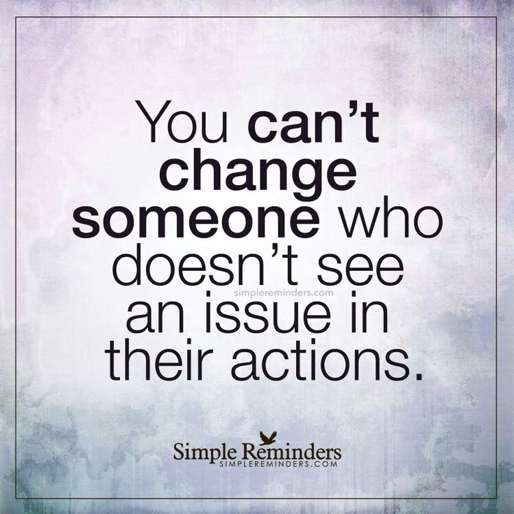 You can't change someone who doesn't see an issue in their actions  narcissists are abusive parents